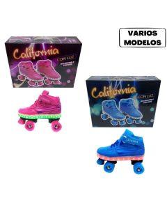 Patines california con luz 4 ruedas 'Varios talles y colores'