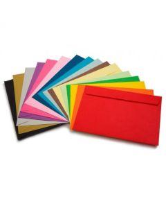 Sobre papel color Oficio Ingles xUnidad