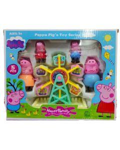 Muñecos Peppa pig vuelta al mundo Happy family
