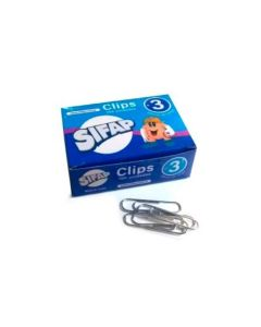 Caja Clips nº3 28mm x100 unidades metal
