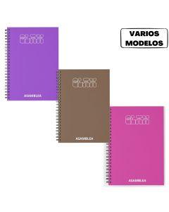 Cuaderno espiralado 29.7 80 hojas cuadriculadas Glamour