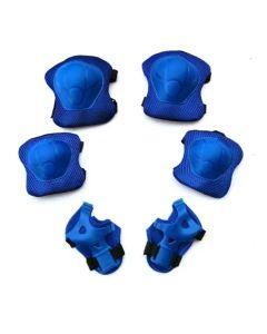 Set Proteccion Coderas, Rodilleras y Muñequeras Azules