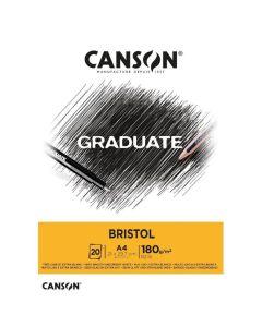Block Graduate Bristol A4 180 gr. 20 hojas
