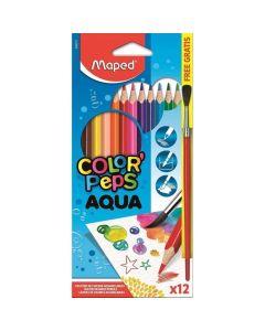 Lapices de Colores Acuarelables 'Aqua' Color Peps x 12