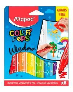 Window Marcadores Para Vidrio Maped X 6 Unidades