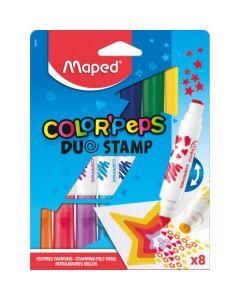 Marcadores x8 Duo Stamp Rotuladores Sellos