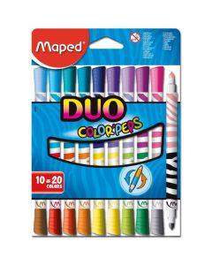 10 marcadores duo colors