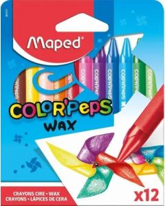 Crayones 'Wax' Color Peps x 12