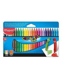 Crayones 'Wax' Color Peps x 24