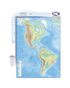 Mapa N°3 x4 unidades AMERICA fisico/Politico