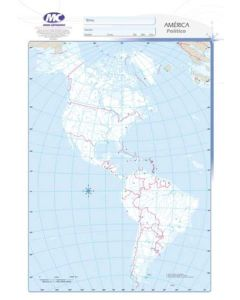 Mapa N°3 x4 unidades AMERICA Politico