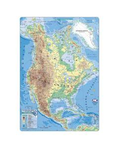 Mapa N°3 x4 unidades AMERICA DEL NORTE fisico/Politico