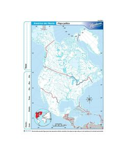 Mapa N°3 x4 unidades AMERICA DEL NORTE Politico