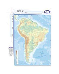 Mapa N°3 x4 unidades AMERICA DEL SUR fisico/Politico