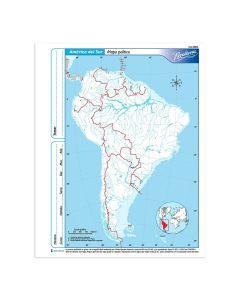 Mapa N°3 x4 unidades AMERICA DEL SUR Politico