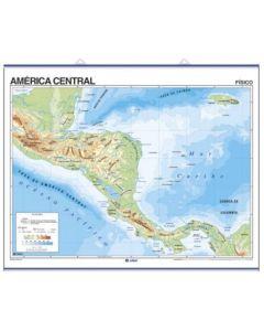 Mapa N°3 x4 unidades AMERICA CENTRAL fisico/Politico