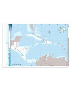 Mapa N°3 x4 unidades AMERICA CENTRAL Politico