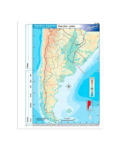 Mapa N°3 x4 unidades ARGENTINA fisico/politico