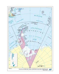 Mapa N°3 x4 unidades ANTARTIDA politico