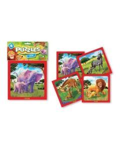 Puzzle 4 piezas zoo
