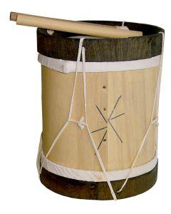 Bombo de madera con palitos