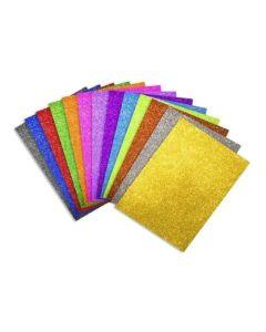 Goma Eva Glitter A4 'Varios Colores'