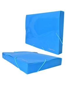 Carpeta Tipo Caja Archivo 3 Solapas PVC 4 cm Varios Colores