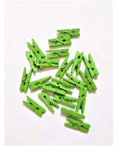 Broches Mini de Madera Color x20