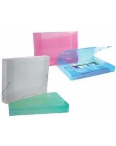 Caja Archivo Oficio plastica transparente color