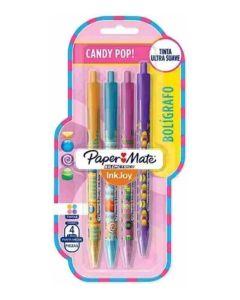 4 Boligrafos Candy pop Kilometrico InkJoy