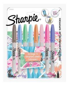 Kit marcadores Sharpie Punta fina + 5 Tarjetas para colorear