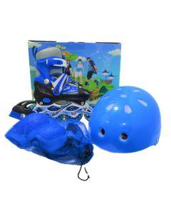 Kit de Patinaje infantil AZUL  IN LINE Skate