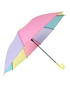 Paraguas largos a rayas pasteles