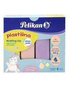 Plastilina Pelikan 4 unidades de colores Pastel