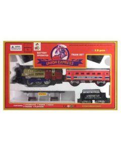 Tren con vias union express 12 piezas