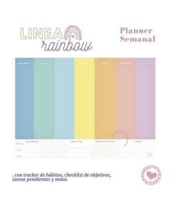 Planner 2022 rainbow mensual 28x20 cm. 54 hojas