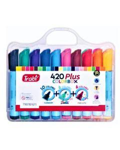 Valija de 20 Marcadores 420 Plus colorbox