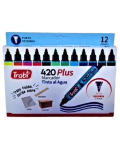 12 Marcadores al agua 420 Plus