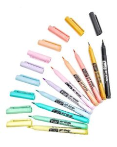 Marcador punta pincel art brush pastel x10 lettering