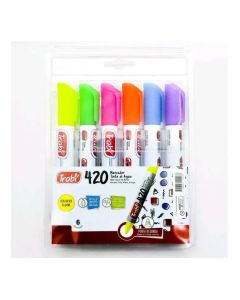 Marcador al Agua x6 Colores Fluo 420