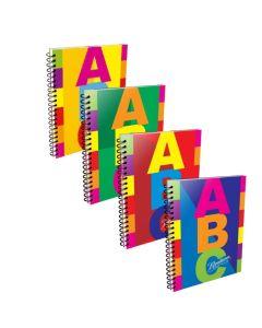 Cuaderno A4 x60h Rayadas Tapa Dura  ABC
