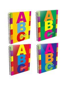 Cuaderno A4 x60h Cuadriculadas Tapa Dura ABC