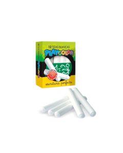 12 Tizas Blancas Playcolor