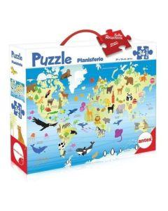 Puzzle planisferio