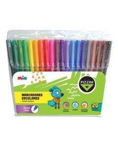 20 marcadores escolares