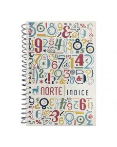 Libreta N°452 espiralada con indice Rayada