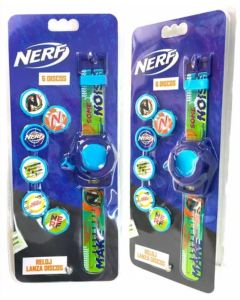 Reloj Nerf con lanza dardos