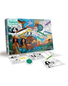 Juego colorear y borrar Raya y el ultimo dragon