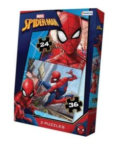 2 Rompecabezas Spider Man x 24-36 Piezas