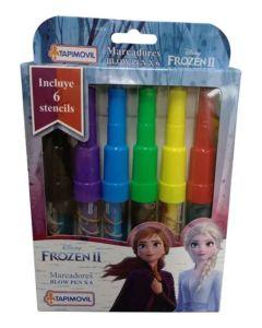 6 Marcadores Blow pen Frozen II
